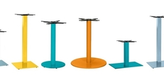 Coloured Metal Table Bases