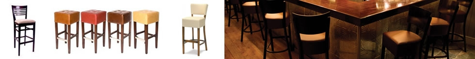 Upholstered Wooden Bar Stools