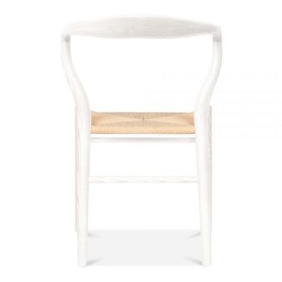 Katcut Dining Chair With A White Frame Rear View