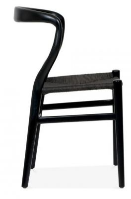 Katcut Dining Chair In Black Width A Ablack Seat Side View
