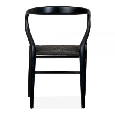 Katcut Dining Chair In Black With A Black Seat Rear View