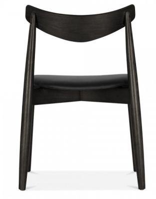Chepstow Designer Ghdinjing Chair Jwith A Black Frame And Black Seat Rear View