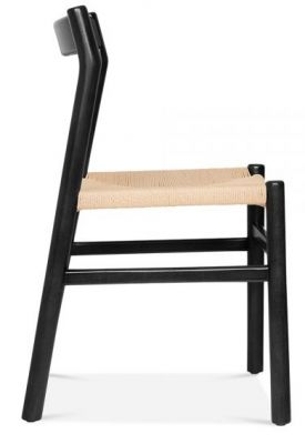 Paco Designer Dining Chair With A Black Frame Side View