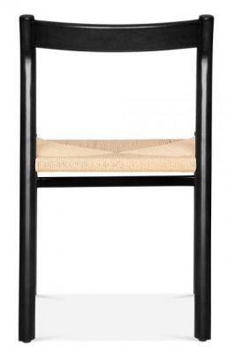 Paco Designer Dining Chair With A Black Frame Rear View