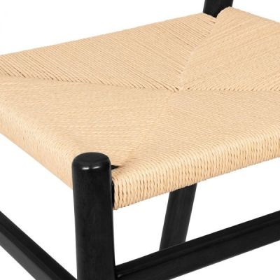 Paco Dining Chair In Black Seat Detail