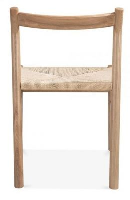 Paco Designer Dining Chair With A Natural Finish Rear View