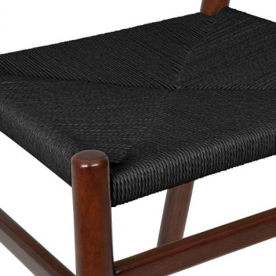 Paco Dining Chair Black Seat Detail