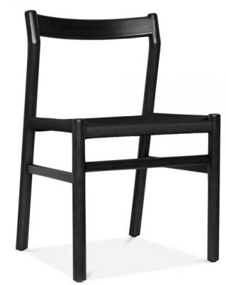 Paco Chair Black Frame And Seat Front Angle