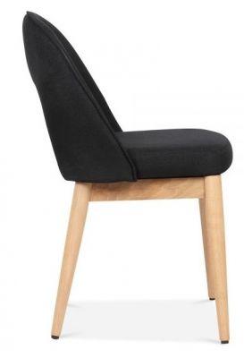 Albert Designer Dining Chair In Black Side View