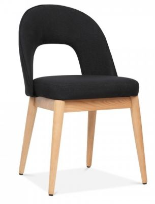 Albert Designer Dining Chair In Black Froint Angle
