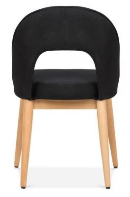 Albert Designer Dining Chair In Black Rear View