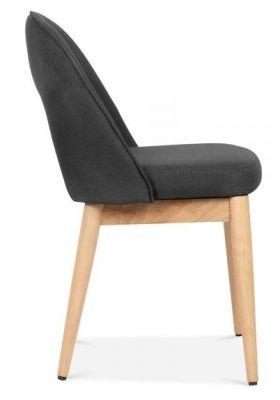 Albert Designer Dininng Chair In Dark Grey Side View