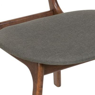 Pascal Dining Chairs Cool Grey Fabric Seat Detail