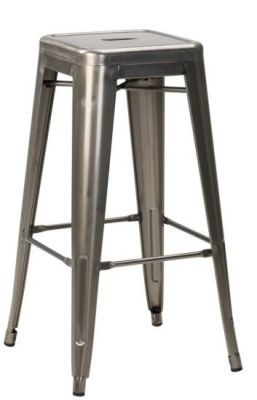 Tolix V2 Gun Metal High Stool