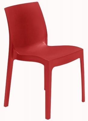 Moby Outdoor Plastic Chair Red
