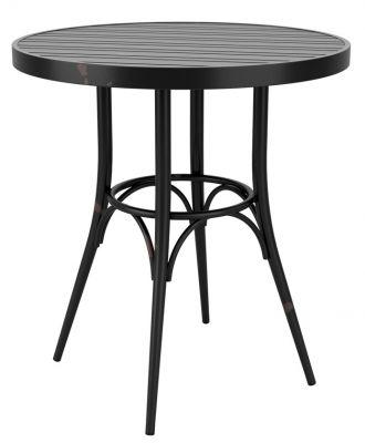 Angelica Black Aluminium Round Table