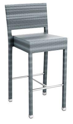 Londi Outdoor Weave High Stool - Grey Weave