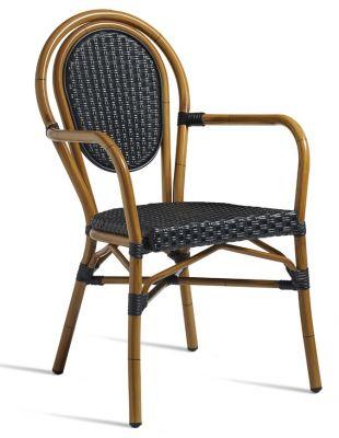 Formosa Continental Weave Armchair - Black Weave