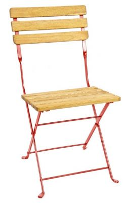 Malta Folding Outdoor Chair Red Frame