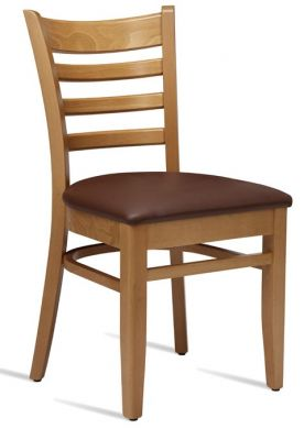 Devon Plus Side Chair With A Light Oak Frame And Brown Leather Seat