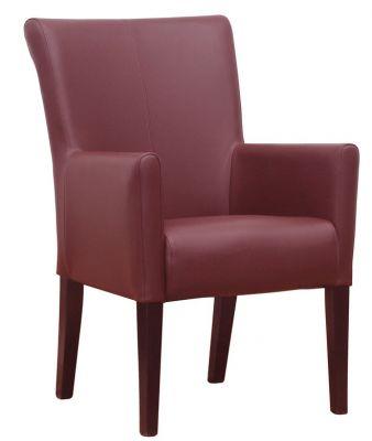 Aztec Wine Leather Armchair