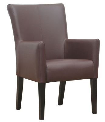 Aztec Brown Leather Armchair
