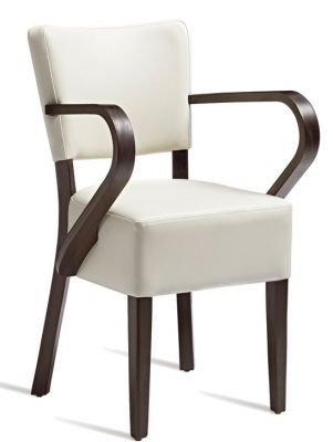 Rosie V3 Dining Armchair In CReam Leather