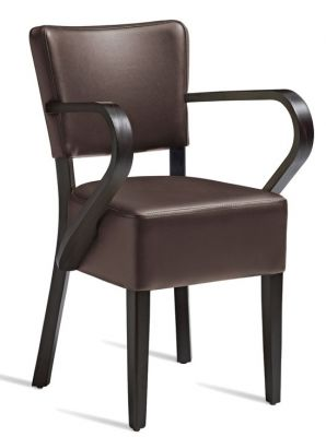 Rosie V3 Brown Leather Dining Armchair