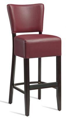 Rebecca V3 Wine Leather High Stools
