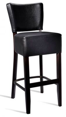 Rosie V3Black Leather High Stool