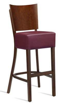 Rebecca V3 High Stool With A Wine Leaher Seat