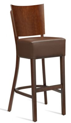 Rebecca V3 High Stool With A Brown Faux Leather Seat