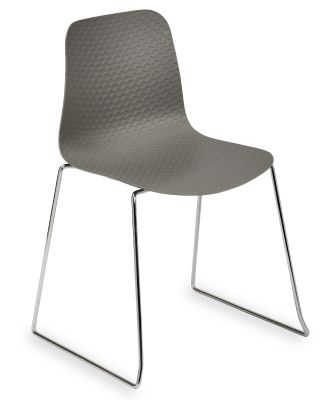 Sisco Designer Plastic Chair With A Grey Shall V2