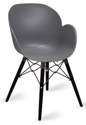 Mylo V10 Arm Chair With Black Soldi Beech Legs