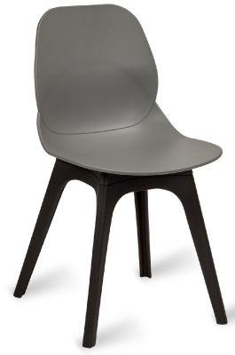 Mylo V14 Chair With A Grey Shell And Black Legs