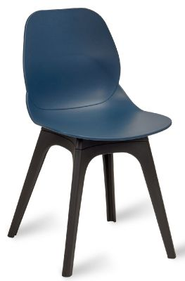 Mylo V14 Chair With A Navy Blue Shell Qand Black Legs