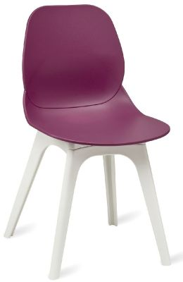Mylo V15 Chair With A Plum Shell And White Legs