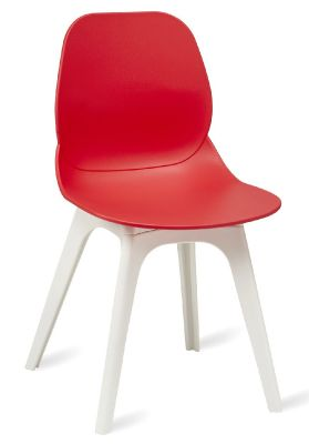 Mylo V15 Chair With Red Shell And White Legs