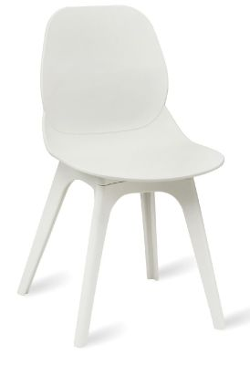 Mylo V15 Chair Witha White Shell And White Legs