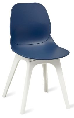Mylo V15 Chairs Witha Navy Blue Shell And White Legs