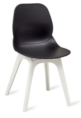 Mylo V15 Designer Chairs With A Black Shell And White Legs