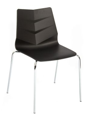 Graphic Four Leg Chair Black Shell