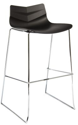 Graphic High Stool Black Shell