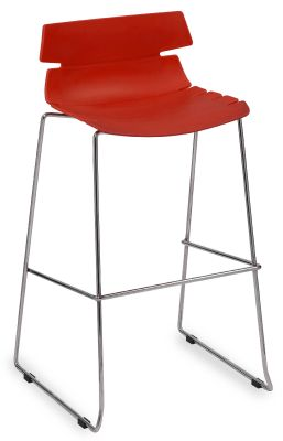 Foxtrot Designer High Stool With A Red Seat