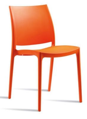 Maya Plastic Chair Orange