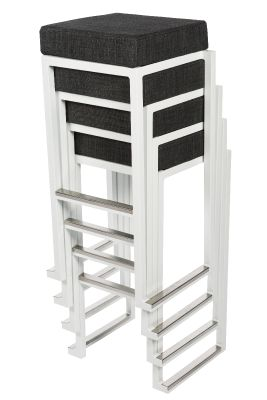 Cubo Stackable Indoor And Outdoor High Stools
