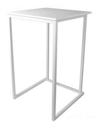 Cubo White Outdoor Party Table