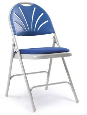 UNiversal S Folding Chair With A Padded Sedat Bliue