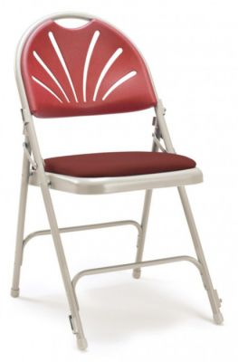 Universal S Folding Chair With A Padded Seat - Burgundy