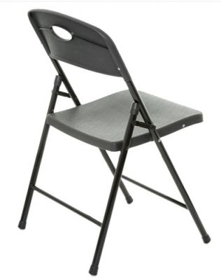 Contrax Plus Folding Chair In Black From Side